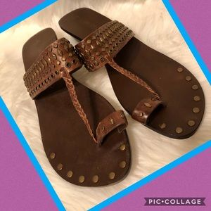 Matisse brown leather sandals size 8